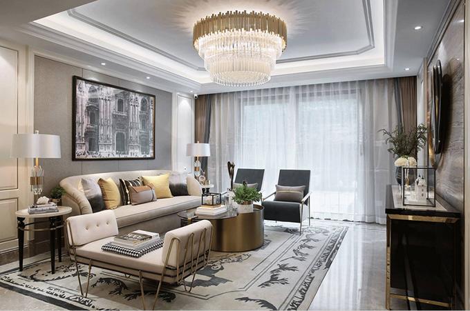 衡阳新城国际120平米三房两厅个性定制装修案例
