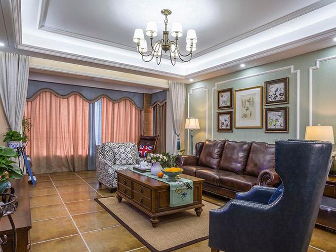 80平米三居室小户型装修客厅效果图