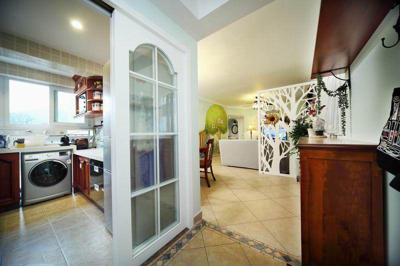 110平米美式田园装修风格厨房效果图