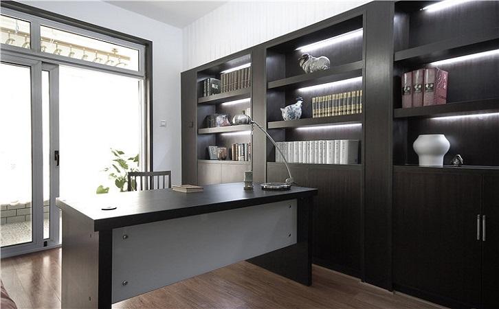 100平米新中式风格书房装修效果图