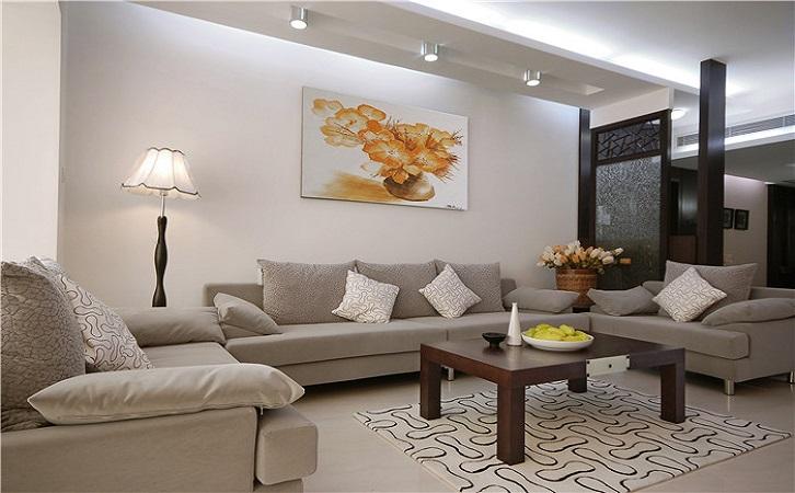 衡阳冠都现代城100平米新中式装修风格案例效果图