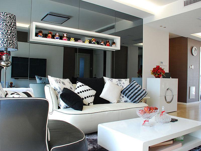 70平小户型客厅装饰搭配图片
