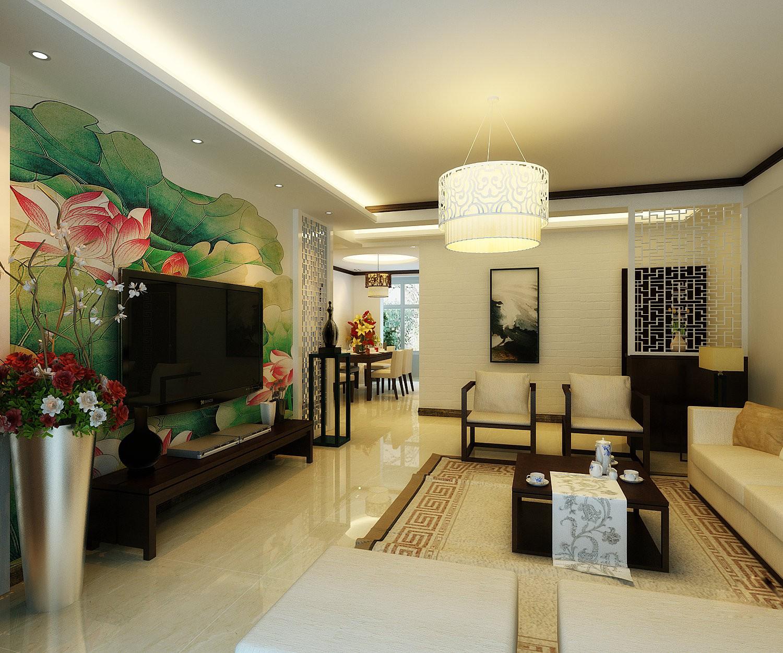 长沙时代年华110平米新中式装修风格案例