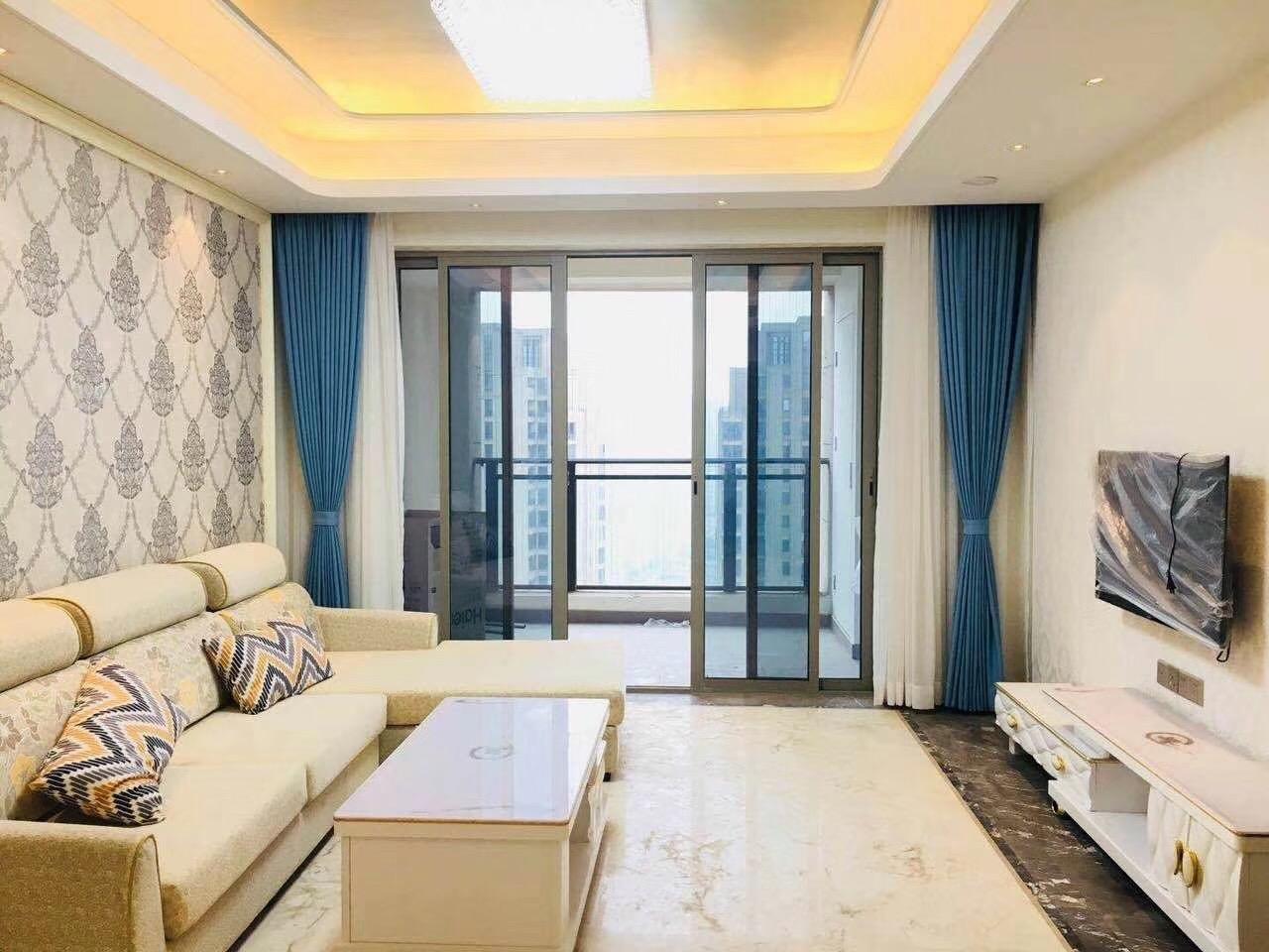 长沙100平米三房两厅北欧简约风格客厅装修效果图