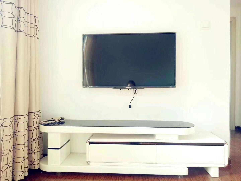 长沙90平米现代简约风格客厅电视背景墙