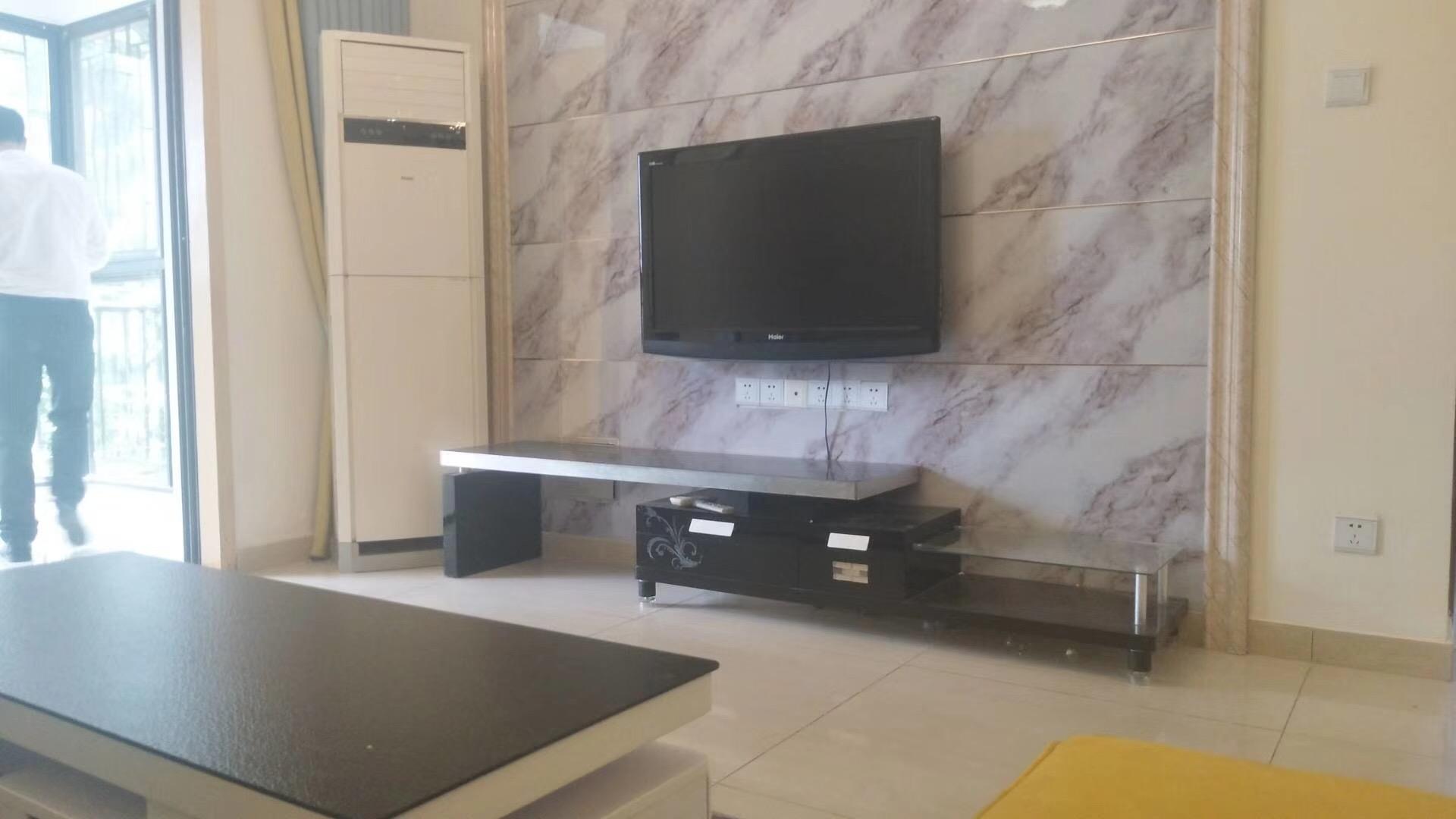 株洲86平米北欧简约风格客厅电视背景墙展示图