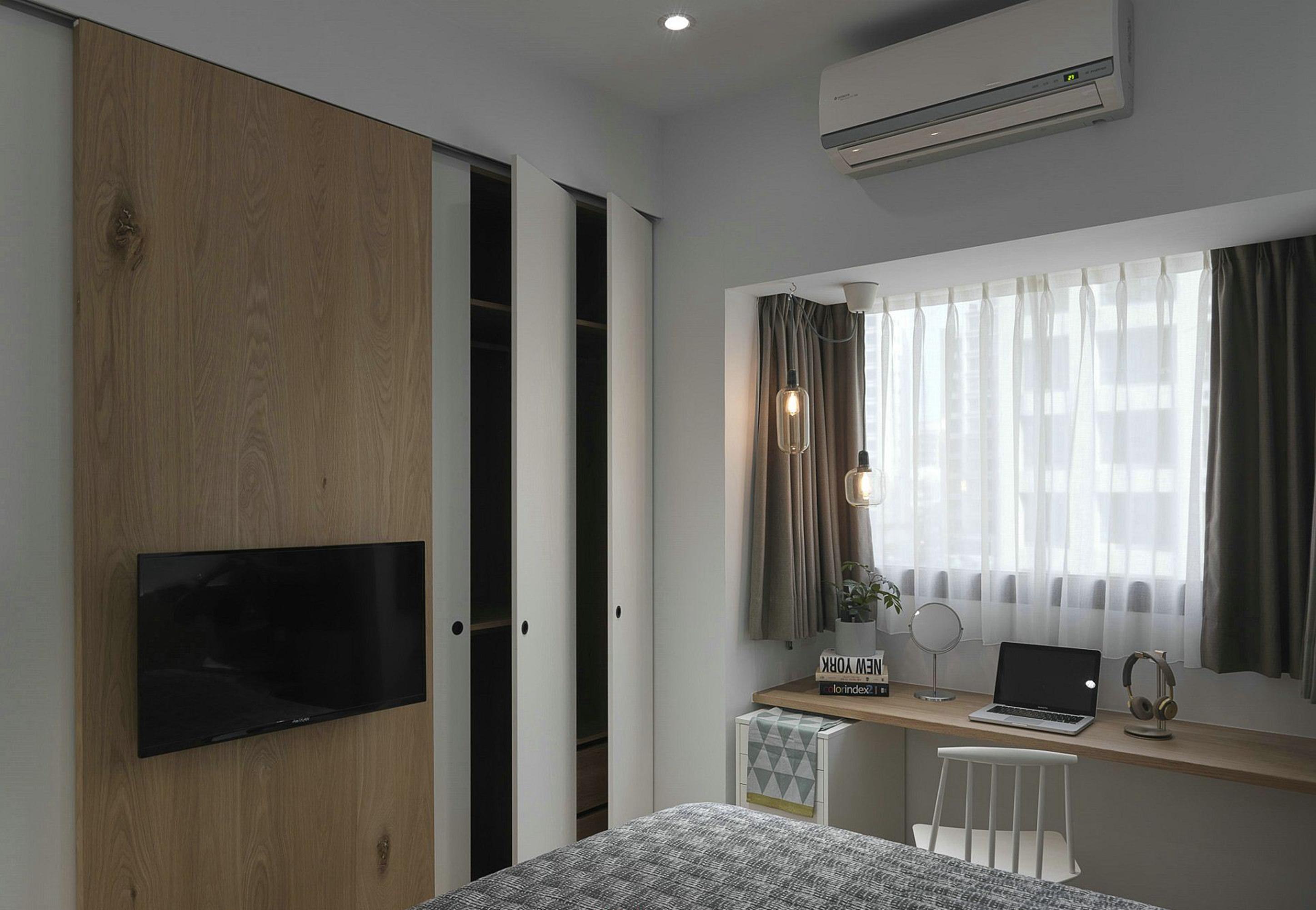 90平米北欧现代风格卧室装修效果图