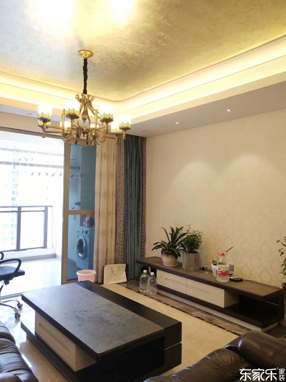118平米北欧现代风格客厅电视背景墙