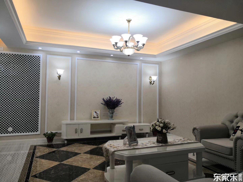 105平米欧式风格客厅装修效果图