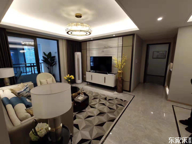 115平米中式风格客厅全景图展示