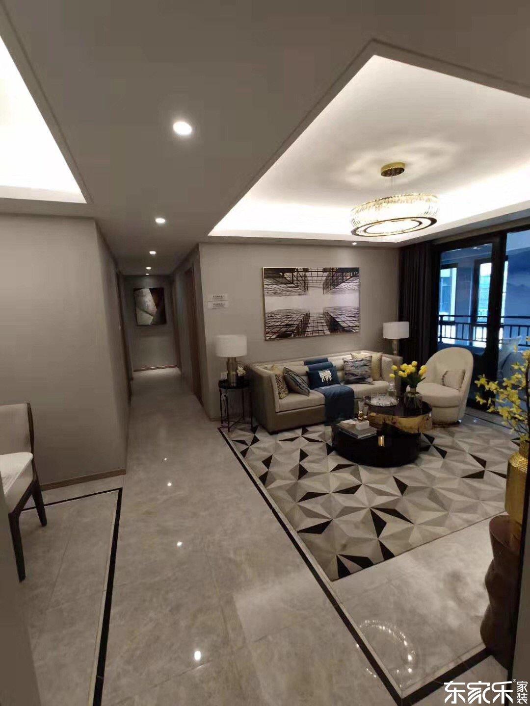 115平米中式风格客厅玄关设计