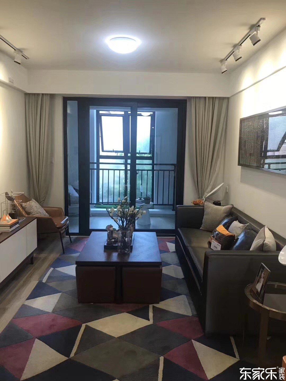110平北欧现代客厅装饰搭配图
