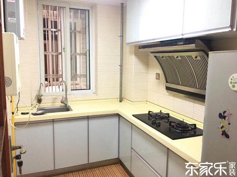 110平个性混搭风格厨房装修效果图