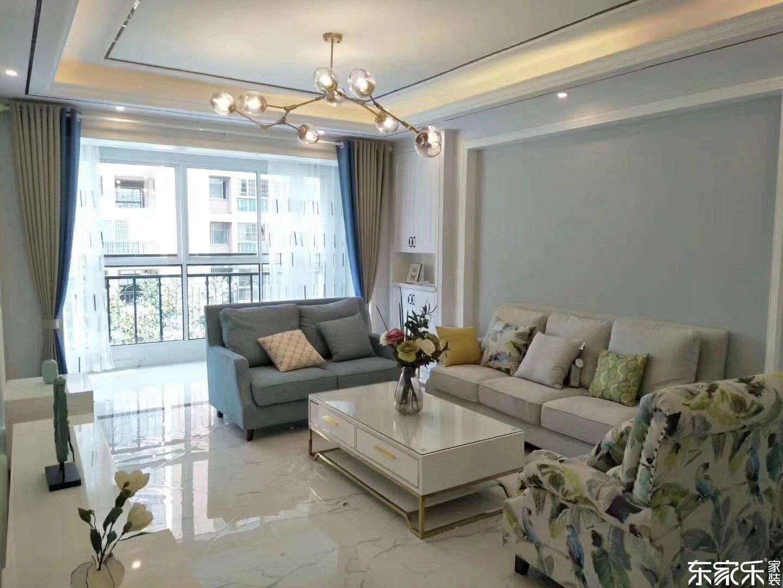 长沙120平现代简约风格客厅装修效果图