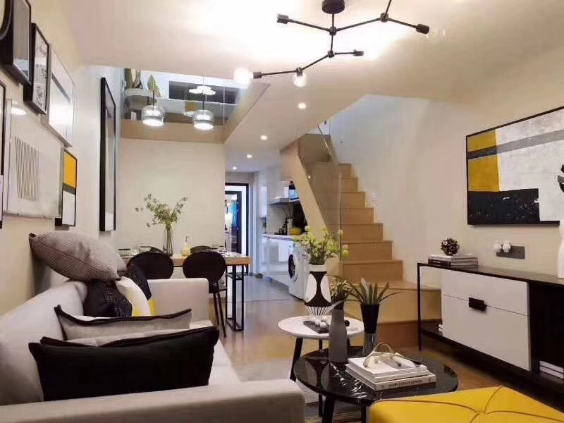 长沙碧桂园60平米复式楼现代风格装修案例